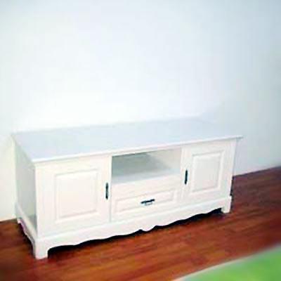 欧式白色实木电视柜